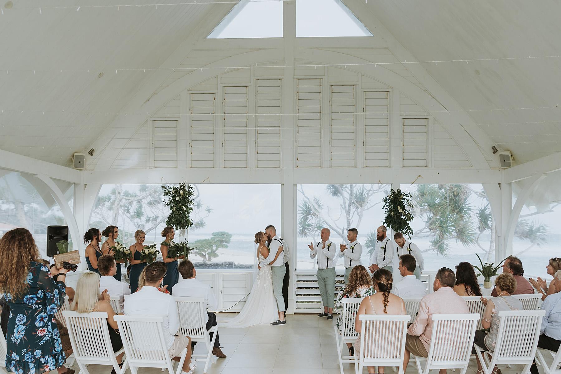 Tamanu on the beach wedding photos